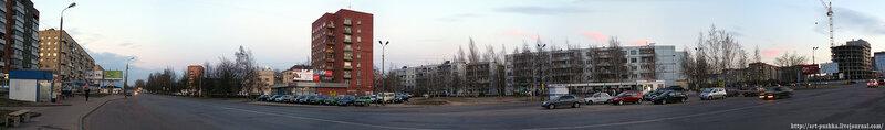 Панорама Рижского проспекта вблизи улицы Юбилейной