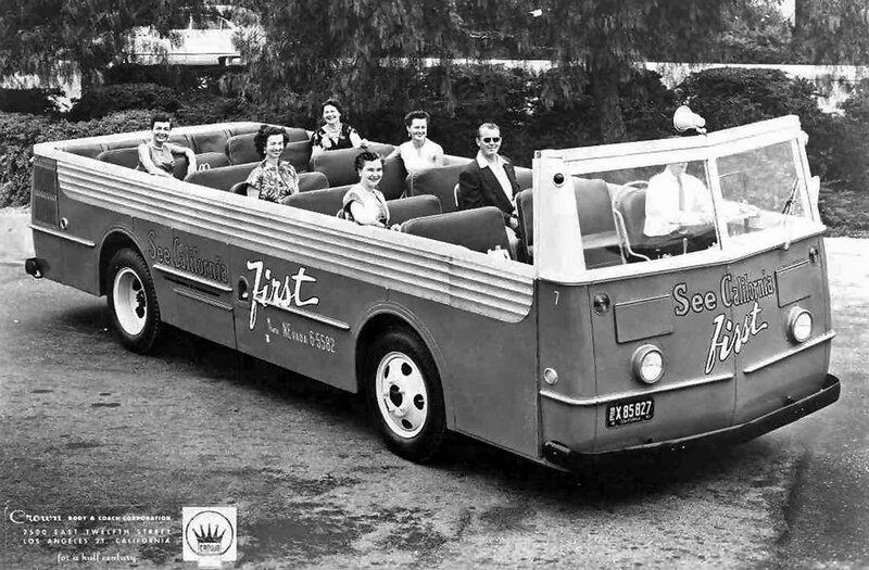 ретро фото, экскурсионный автобус