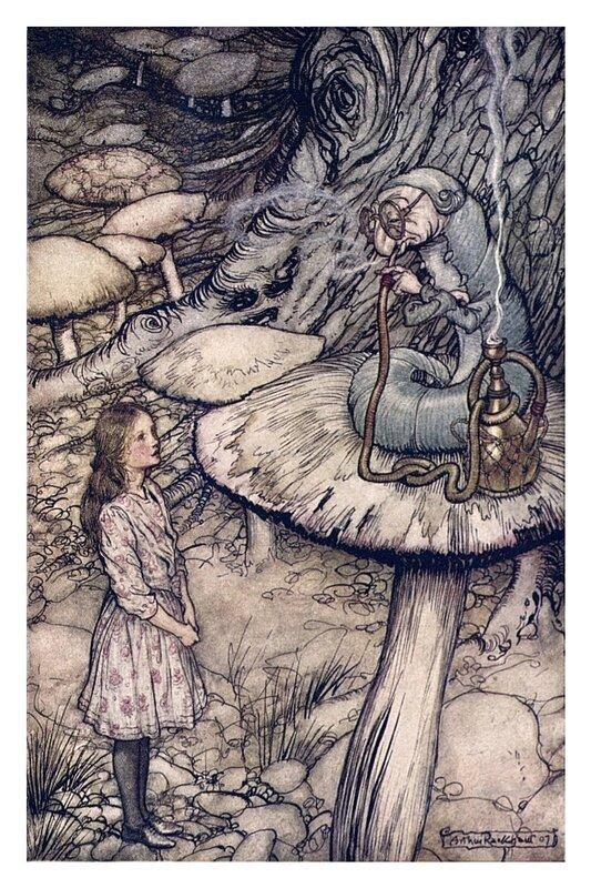 Alice in Wonderland,1907.Arthur Rackham