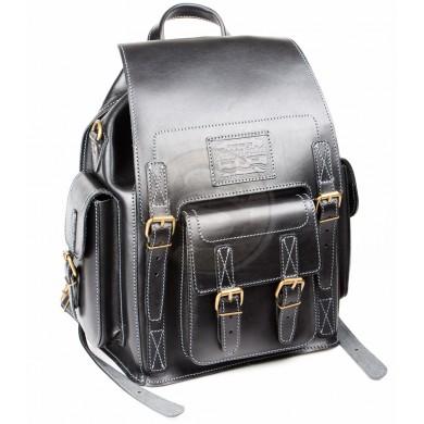 Кожаный рюкзак чёрный