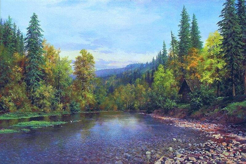 Андрей Огурцов. Осень в горной долине.jpg