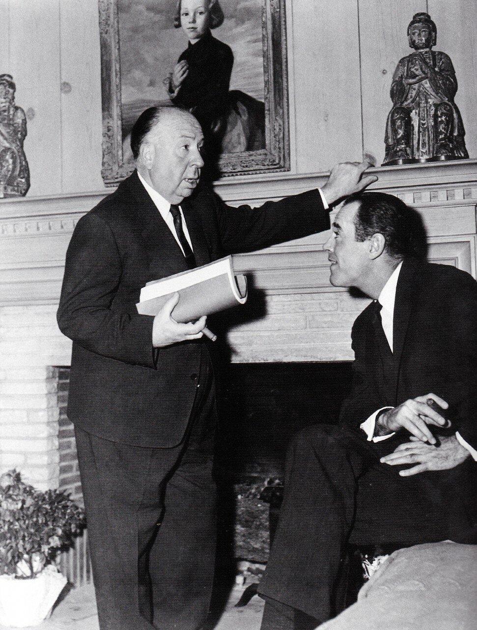 1956. Генри Фонда в гостях у Альфреда Хичкока