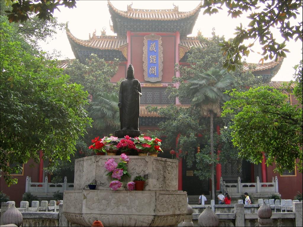 Павильон собрания сутр, монастырь Гуйюань