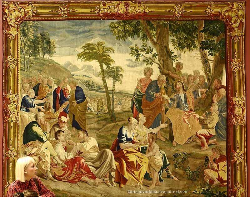 Шпалера «Умножение хлебов».1730-1735 гг. Брюссель. ГМЗ «Царицыно».