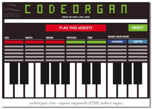Codeorgan- перевод сайта в звуки