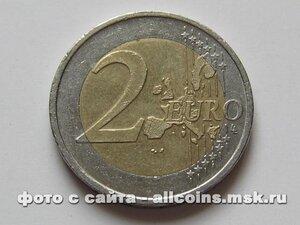 Монета 2 евро Германия