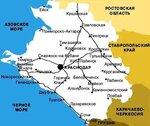 карта - схема дороги Москва - Благовещенская.