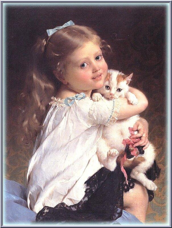 С ТАТЬЯНИНЫМ ДНЕМ !!!...         Дети, дамы и кошки. Emile Munier. Her Best Friend.1882 год.