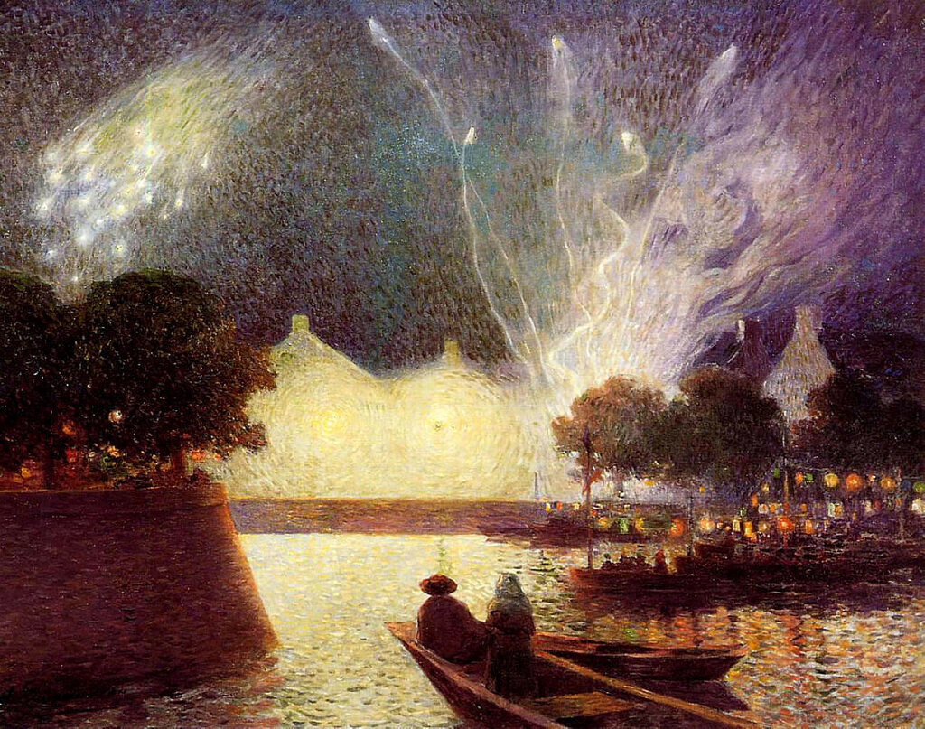 Ferdinand du Puigaudeau - Fireworks over the Port.jpeg