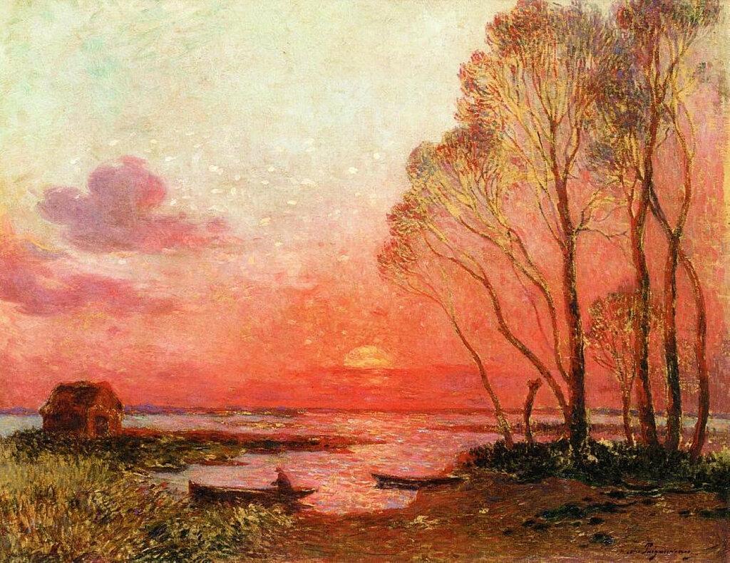 Ferdinand du Puigaudeau - Sunset on the Briere.jpeg