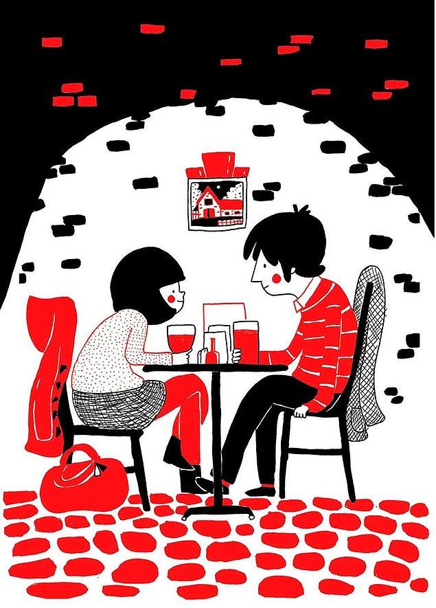 Любовь - когда у вас есть ваше любимое кафе