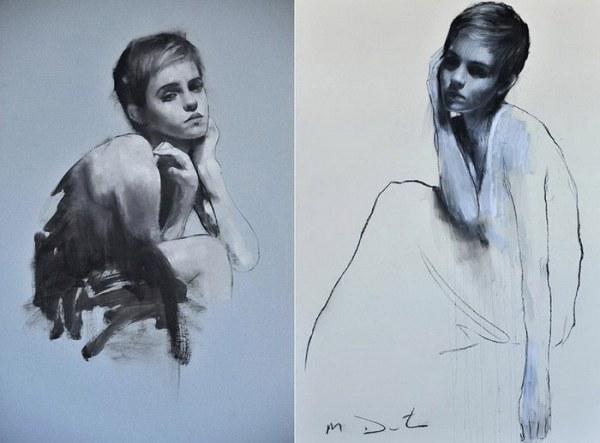 Эмма Уотсон в работах известного художника (33 портрета)