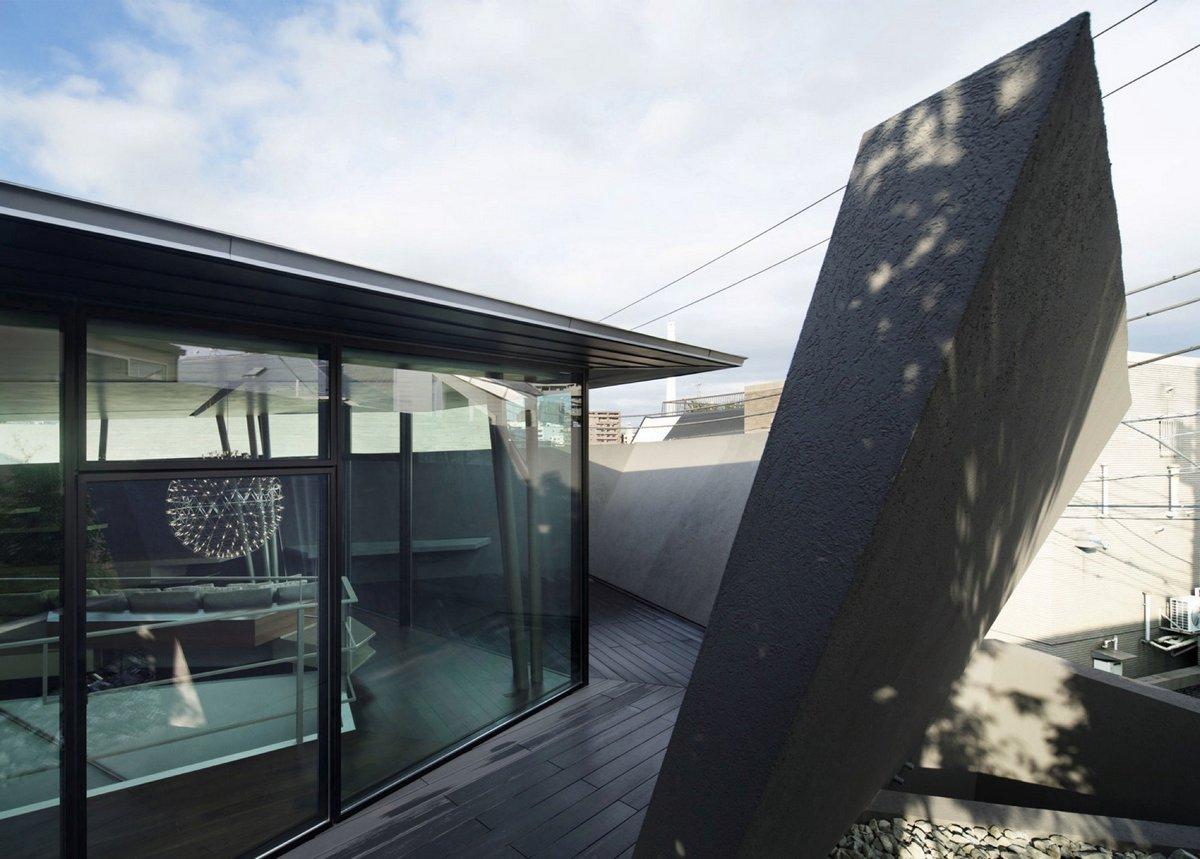 ARTechnic Architects, геометрия частного дома, частный дом в японии, строгий дизайн дома, частные дома в Японии, архитектура Японии