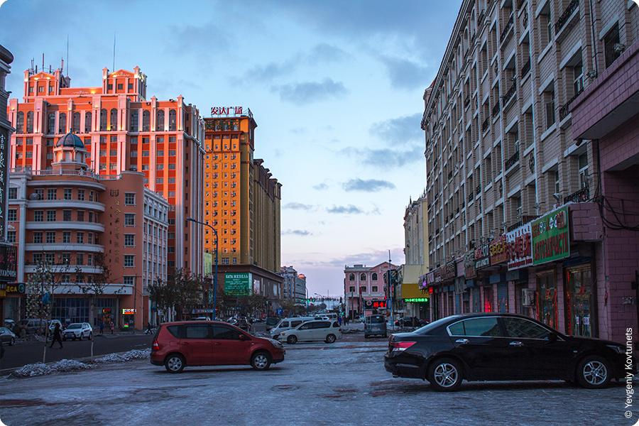 улицы вечерней Маньчжурии