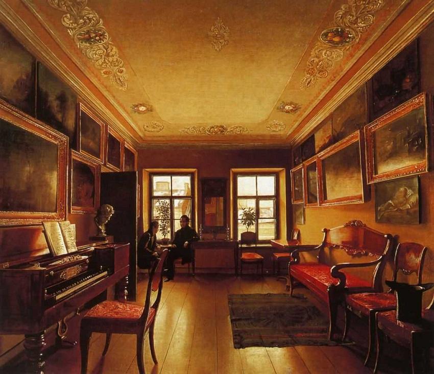 Интерьер в дворянском доме. 1830-е