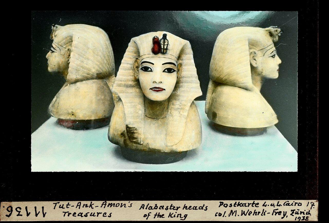Сделанные из алебастра  головы фараона