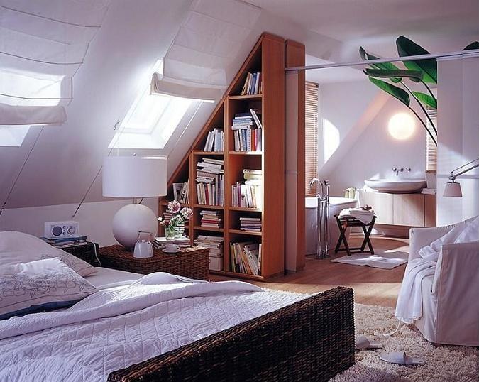 Фото дизайн интерьера мансардных этажей