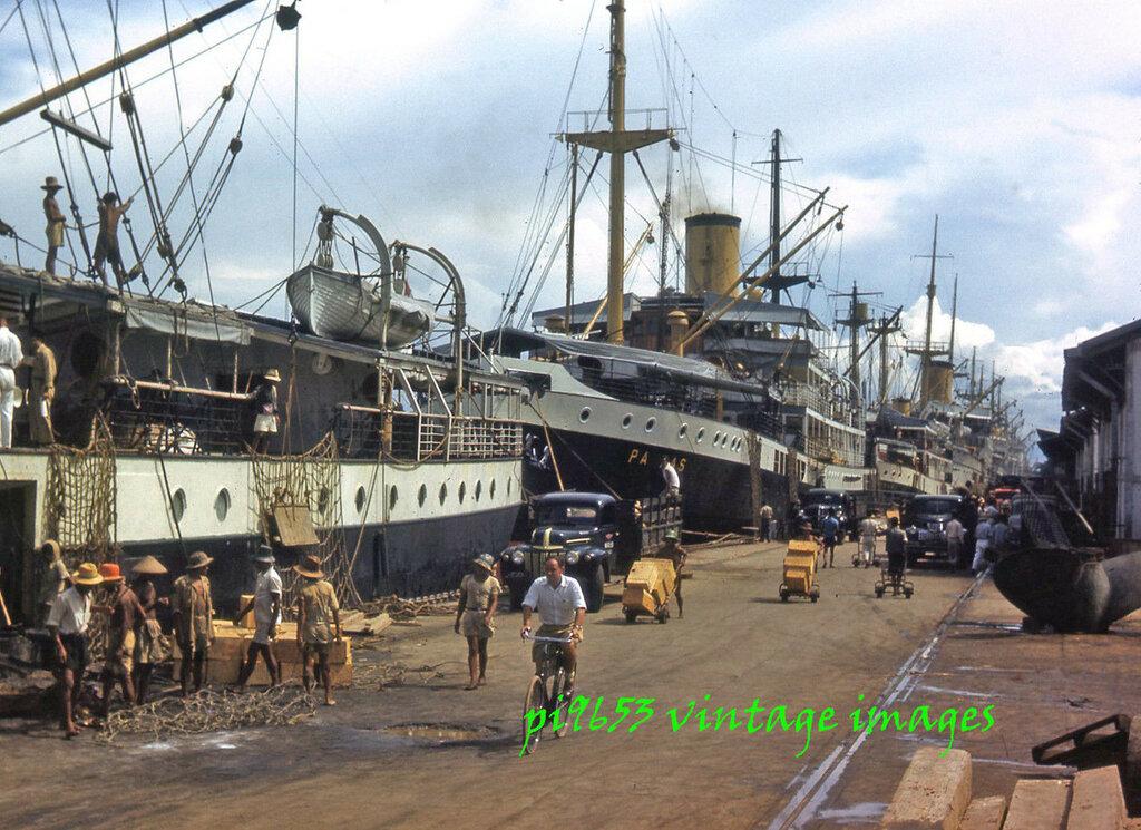 1940s Java Batavia Taudjon Docks Djakarta Port.JPG