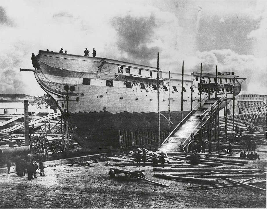 1858 USS_Constitution_ready_for_launch.jpg