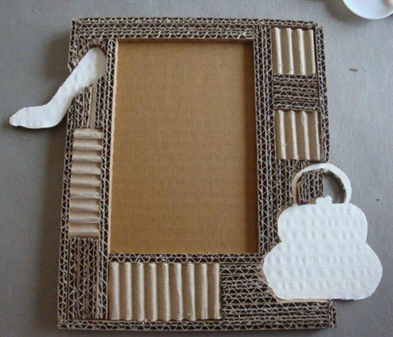 Поделка рамка из картона