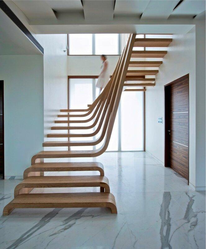 Лестница для дома на второй этаж дизайн фото 7