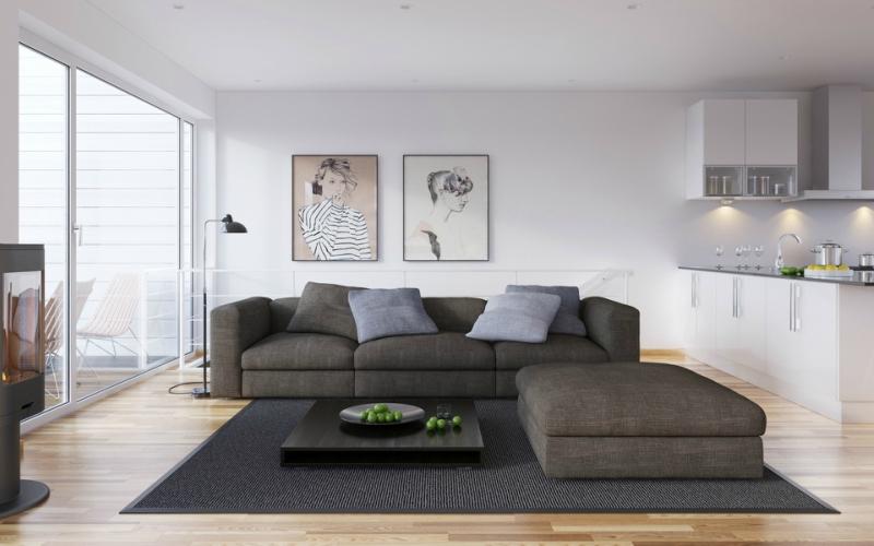 Дизайн интерьера гостиной в светлых оттенках фото 11