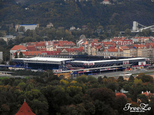 Вид с Петршина, стадион футбольного клуба «Спарта»