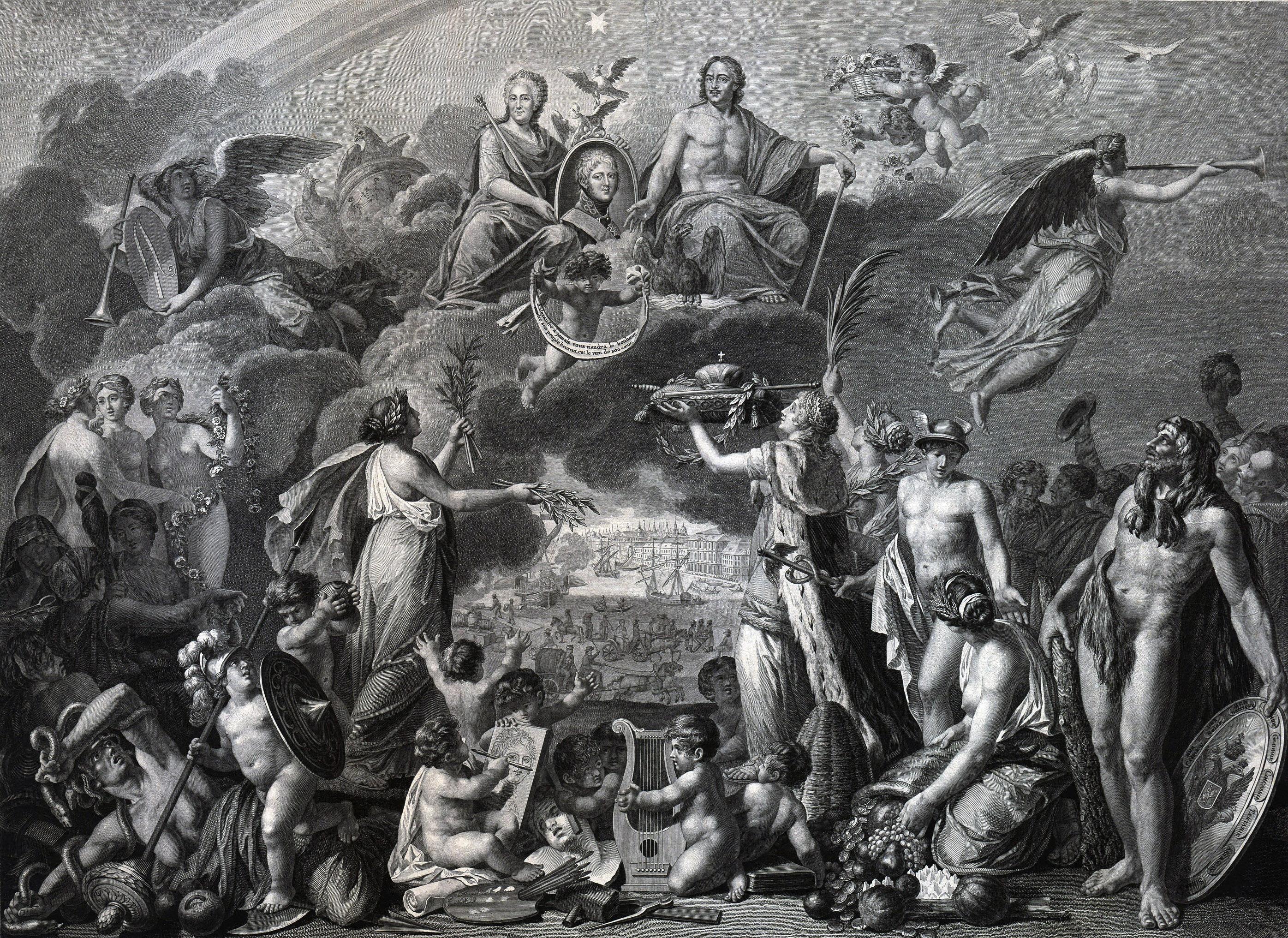 Мейс Фердинанд, де [Meys Ferdinand, de] Гравюра «На случай созшествия на российский престол Государя императора Александра I»(отпечатано в Париже)