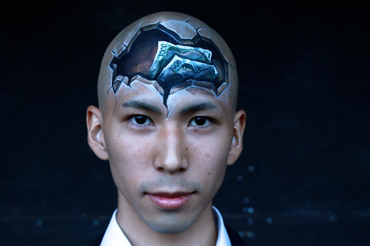 Body Painting Illusions - The latest creations of Hikaru Cho