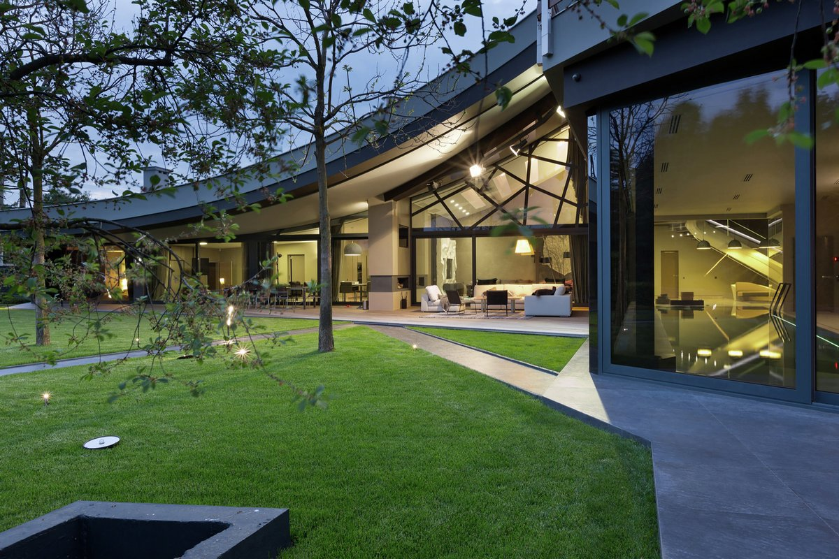 Sbm studio, архитектура, частный дом, Харьков, волнистая крыша, ландшафтный дизайн, дом с видом на озеро, планировка частного дома