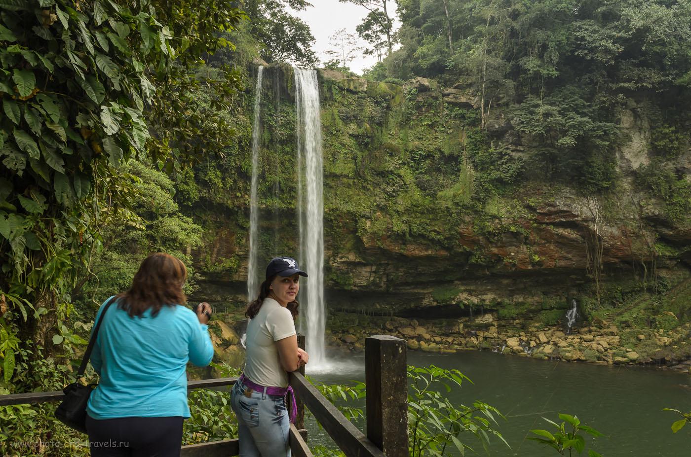 Фотография 7. Экскурсия на водопад Мисоль-Ха (Misol-Ha) в окрестностях города Паленке (Palenque). Отзывы туристов об отдыхе в Мексике дикарями.