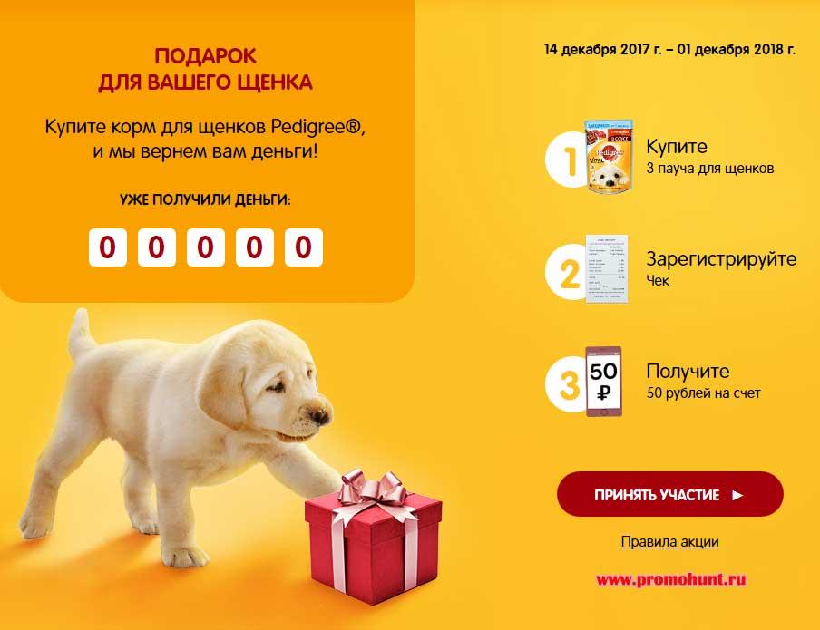 Акция Педигри 2017 на promo.pedigree.ru