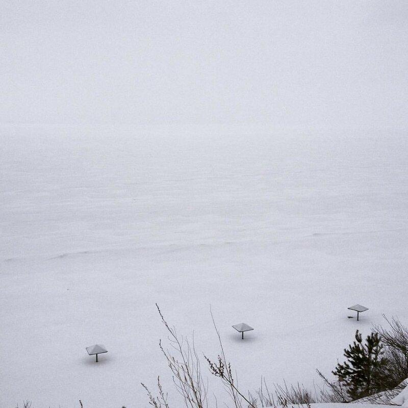 Волга зимой