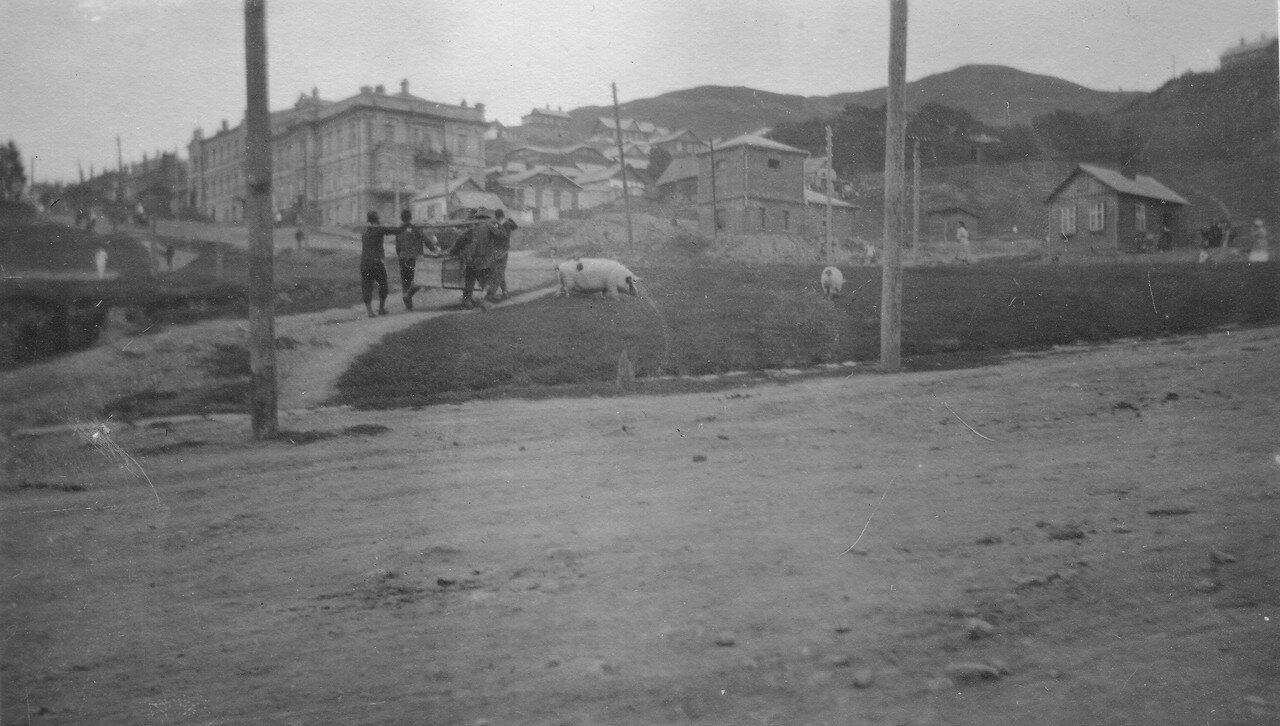 Перекресток улиц Фонтанной и Суйфунской