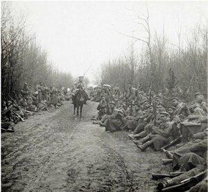 31. 1914. Привал по дороге к Кракову. Галиция