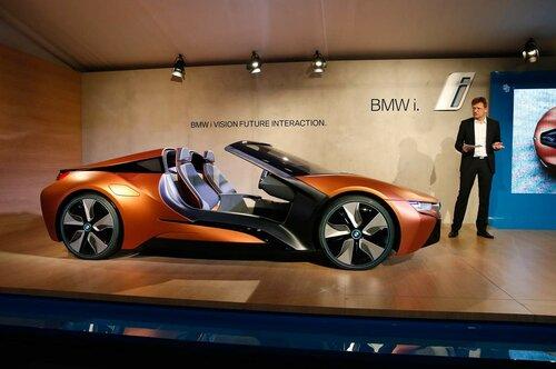 Компания BMW показала аэродинамический автомобиль i Vision
