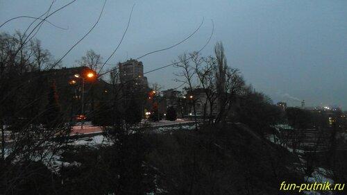 Зимняя прогулка по набережной Ростова, вид на Дон с высоты