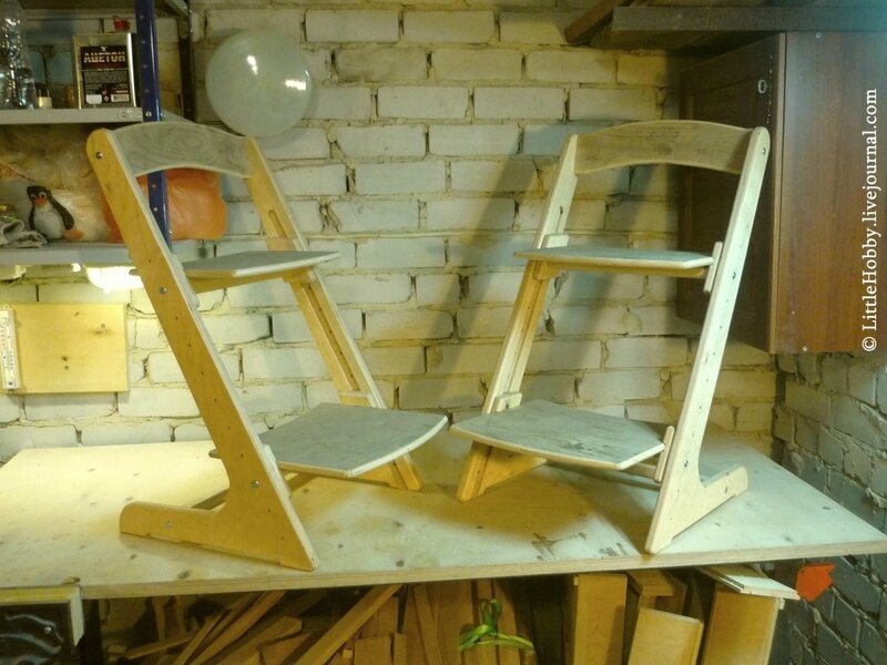 Регулируемый детский стул своими руками
