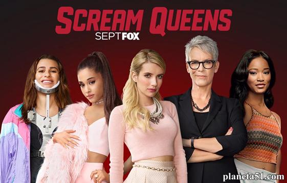 Королевы крика (1 сезон: 1-13 серии из 13) / scream queens / 2015.