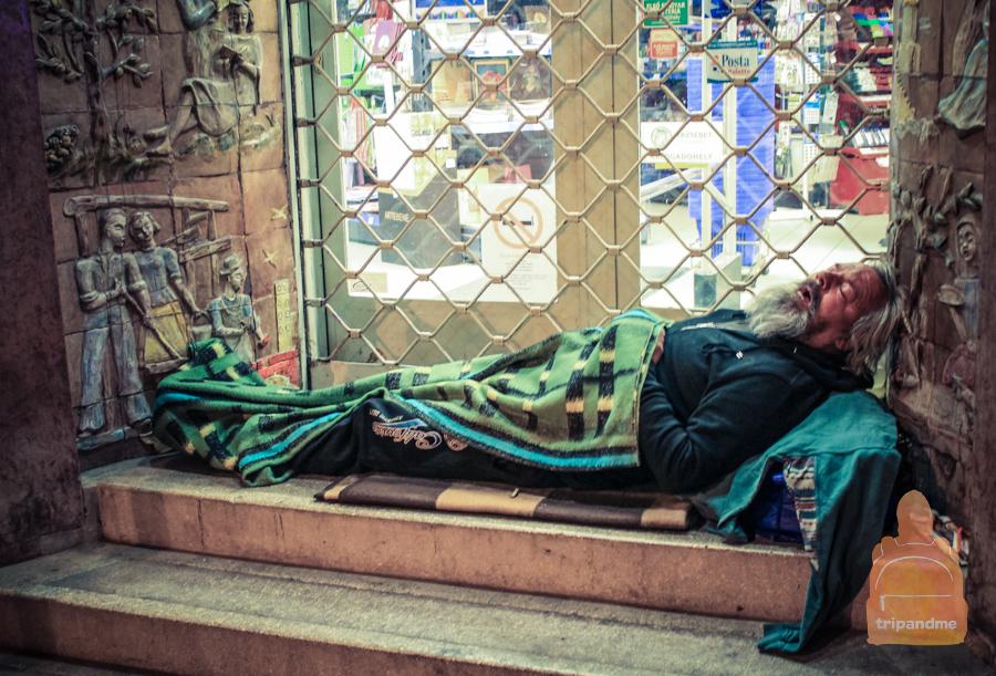 В Будапеште много бездомных