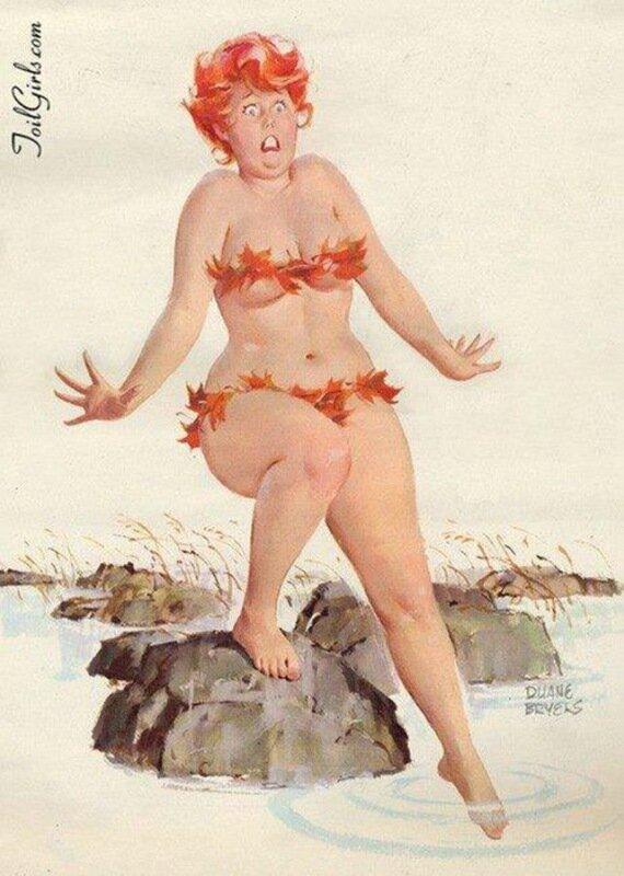 Неунывающая толстушка Хильда на пин ап Дуэйна Брайерса (50 чудесных картинок)