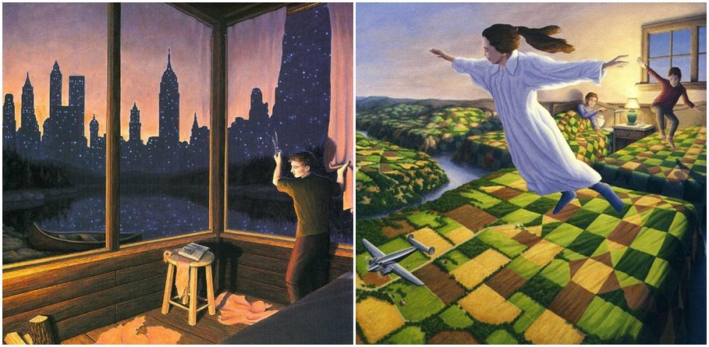Стиль, вкотором рисует всемирно известный художник изКанады Роб Гонсалвес (Rob Gonsalves), некотор