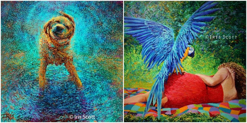 Художница Айрис Скотт (Iris Scott) рисует совершенно восхитительные картины, ноделает это неспомо