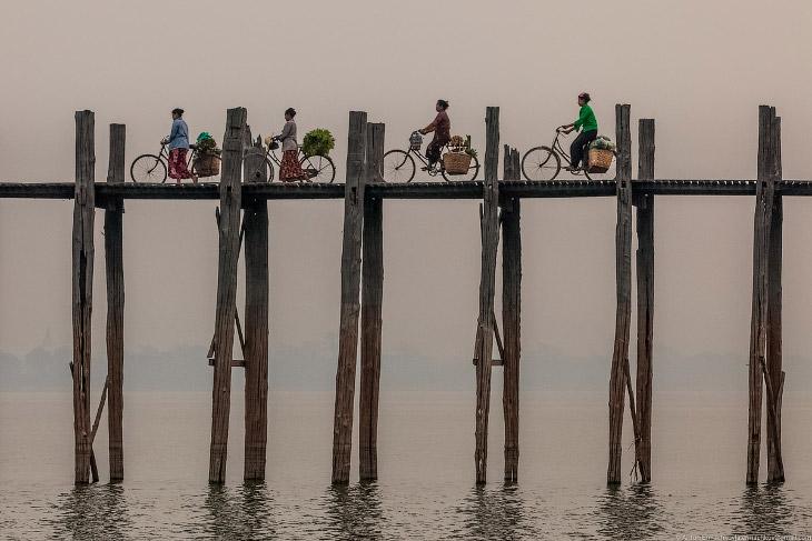 Бирма. Знаменитый мост U Bein (30 фото)