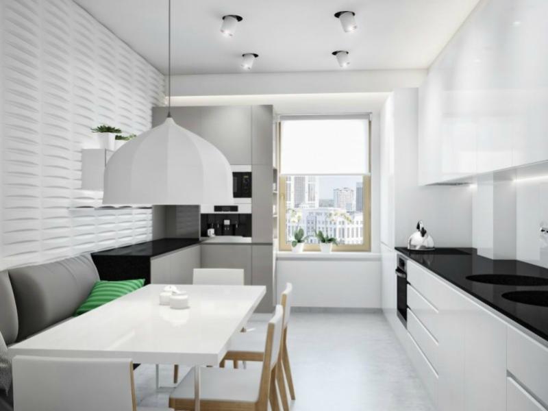 Белый цвет в интерьере кухни, фото 25