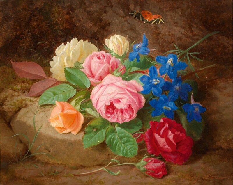 Натюрморт с цветами и бабочкой.jpg