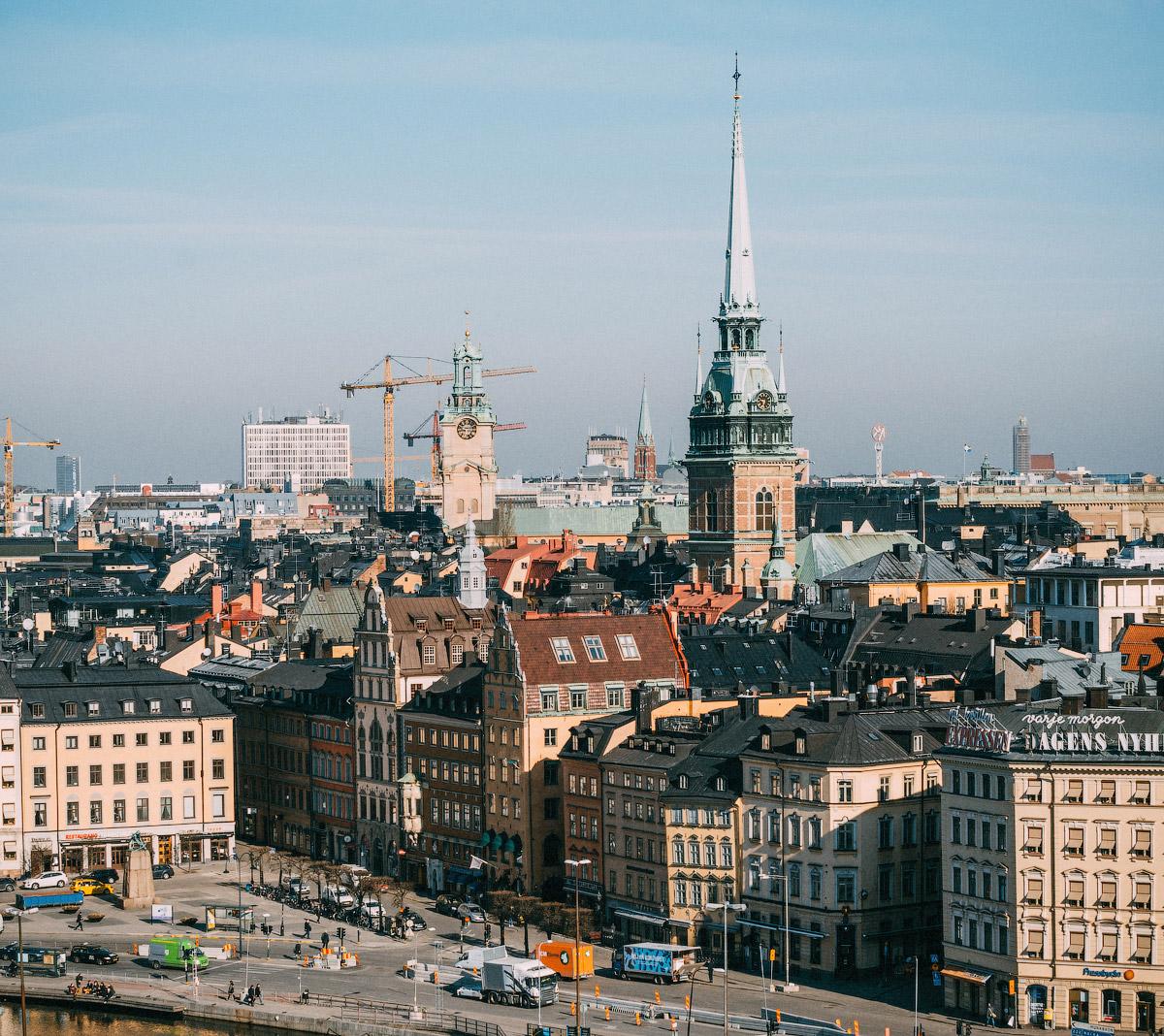 На пароме в Швецию, центр Стокгольма, достопримечательности Стокгольма,