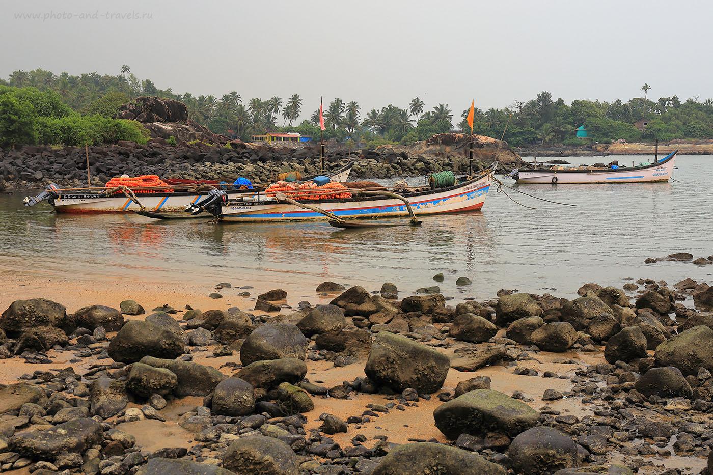 Фото 17. Лодки. Отдых в Южном Гоа в октябре. Как выглядит море в Индии в несезон (24-70, 1/160, 0eV, f9, 41mm, ISO 100)