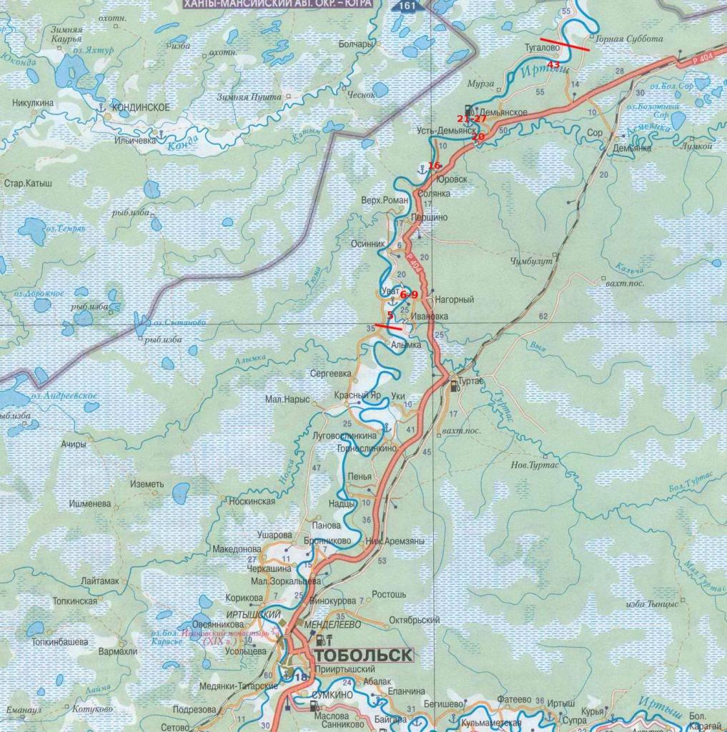 схема реки табол