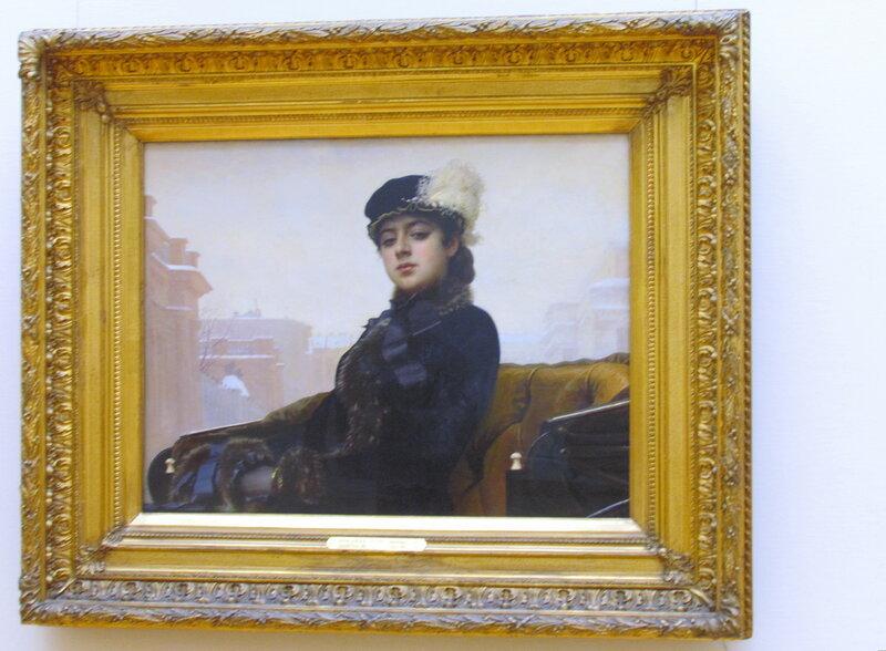 Крамской И.Н. (1837-1887) Неизвестная 1883.